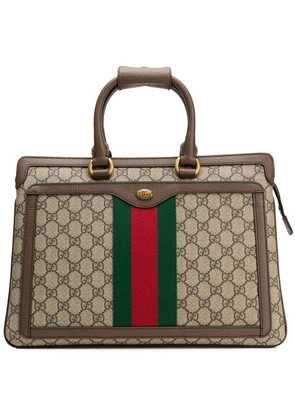 Gucci Ophidia GG rectangular backpack - Brown