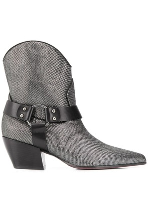 Deimille pointed toe boots - Silver