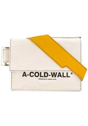 A-Cold-Wall* logo print shoulder bag - Neutrals