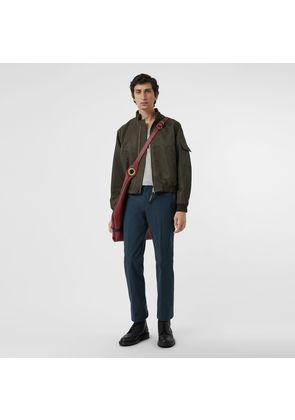Burberry Technical Cotton Twill Trousers, Blue