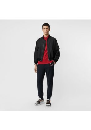 Burberry Chequer EKD Cotton Trackpants, Blue