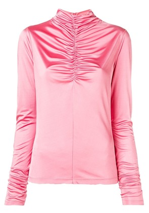 Cédric Charlier gathered front blouse - Pink