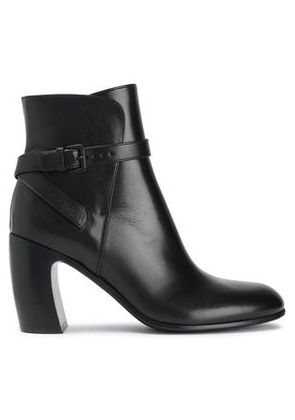 Ann Demeulemeester Woman Buckled Leather Ankle Boots Black Size 38.5
