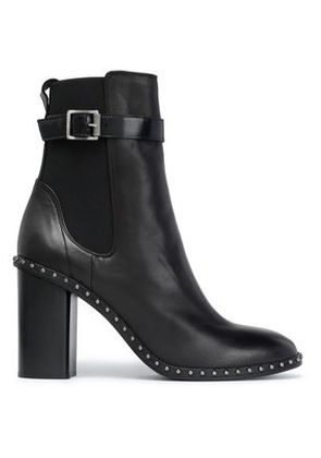 Rag & Bone Woman Studded Leather Ankle Boots Black Size 38