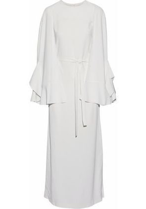 Goen.j Woman Cape-back Crepe Maxi Dress Ivory Size S