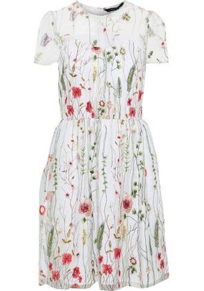 W118 By Walter Baker Woman Drew Embroidered Tulle Dress White Size 2