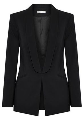 Alice + Olivia Woman Skye Boxy Boyfriend Stretch-wool Blazer Black Size 6