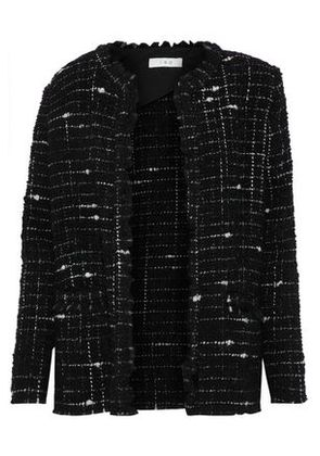Iro Woman Frayed Bouclé-tweed Blazer Black Size 40