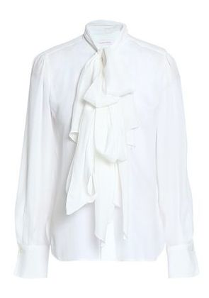 See By Chloé Woman Bow-detailed Crepe Blouse White Size 40