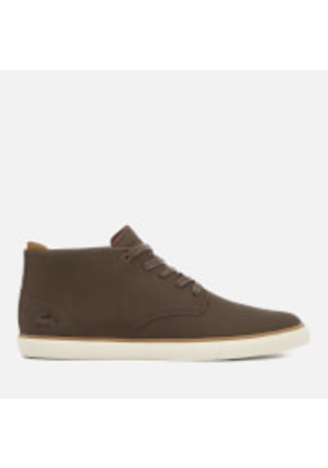Lacoste Men's Esparre Chukka 318 1 Leather/Suede Derby Chukka Boots - Brown/Brown - UK 7 - Brown