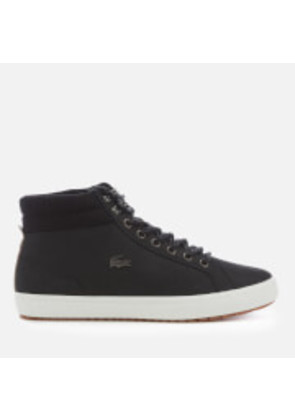 Lacoste Men's Straightset Insulate C 318 1 Water Resistant Leather Boots - Black/Black - UK 7 - Black