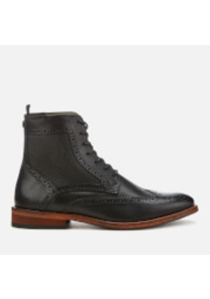 Barbour Men's Belford Leather Brogue Lace Up Boots - Black - UK 7 - Black