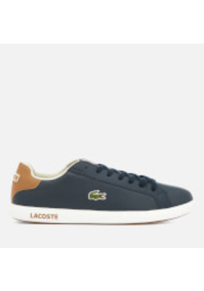 Lacoste Men's Graduate Lcr3 118 1 Leather Trainers - Navy/Light Brown - UK 7 - Blue