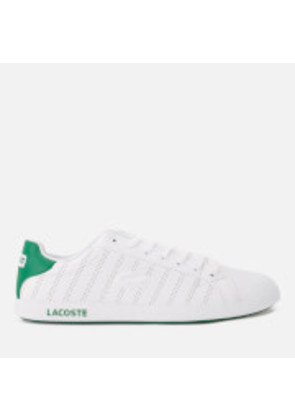 Lacoste Men's Graduate 318 1 Perforated Leather Trainers - White/Green - UK 7 - White