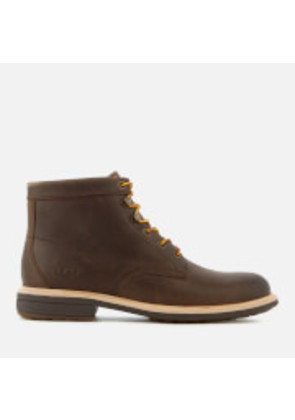 UGG Men's Vestmar Leather Lace Up Boots - Grizzly - UK 7 - Brown
