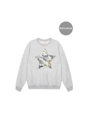 Exclusive Camouflage Star Jumper - Grey