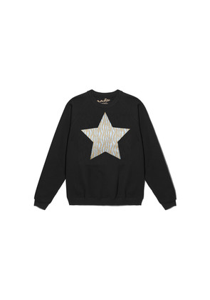 Zebra Metallic Star Jumper - Black