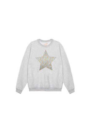 Zebra Metallic Star Jumper - Grey