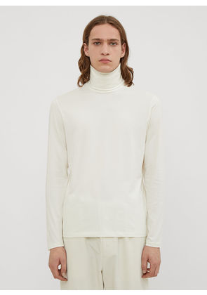 Jil Sander Turtle Neck Top in White size S