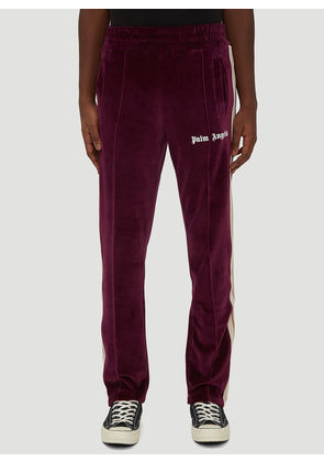 Palm Angels Chenille Track Pants in Purple size L