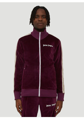 Palm Angels Chenille Track Top in Purple size L