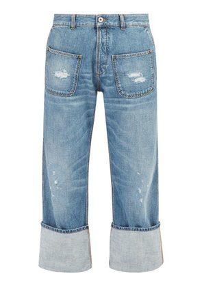 Loewe - X Charles Rennie Mackintosh Distressed Jeans - Mens - Blue