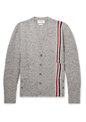 Slim-fit Striped Wool And Mohair-blend Cardigan