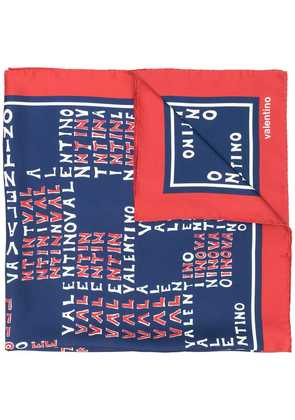 Valentino printed small scarf - Blue