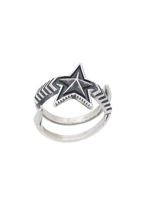 Cody Sanderson Double Large Arrow Star ring - Metallic