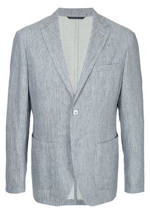 D'urban denim herringbone blazer - Blue