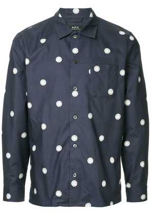 A.P.C. polka dot shirt - Blue