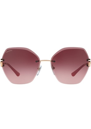 Bulgari oversized sunglasses - Metallic