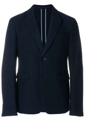 Prada contrast single-breasted jacket - Blue