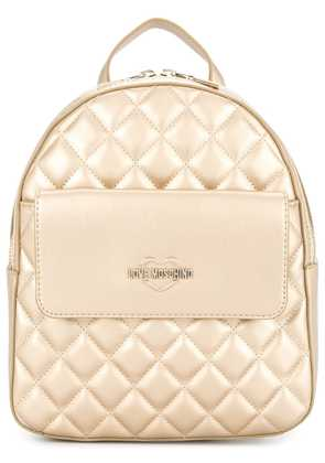 Love Moschino small quilted backpack - Metallic