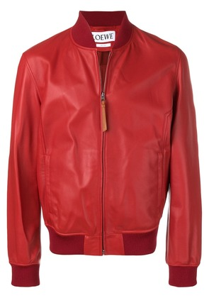Loewe bomber leather jacket - Red