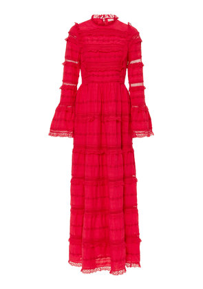 Ulla Johnson Cerise Cotton-Blend Lace Dress