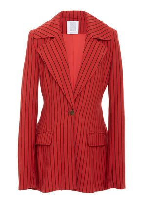 Rosie Assoulin Blaze Your Saddles Pinstriped Stretch Wool-Twill Blazer