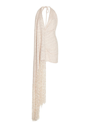 Jacquemus Valoria Fringe-Detail Tweed Dress