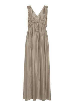 Loup Charmant Sirena Ruched Silk Gown