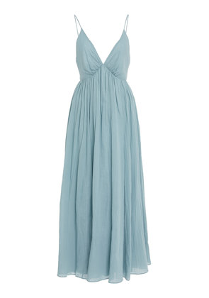 Loup Charmant Adelaide V-Neck Cotton Maxi Dress