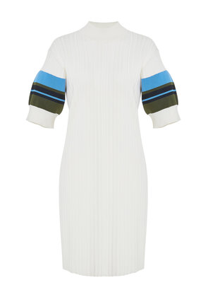 Proenza Schouler PSWL Striped Ribbed Cotton-Blend Dress