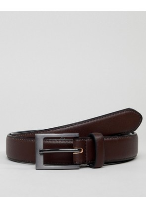 New Look Smart Belt In Brown - Mid brown