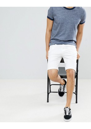 New Look Shorts With Pocket Detail In White - White