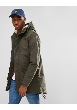 Jack & Jones Parka With Borg Lining - Forest night