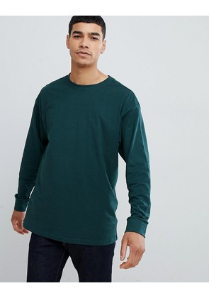 New Look long sleeve t-shirt in green - Mid green
