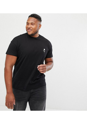New Look Plus t-shirt with rose embroidery in black - Black