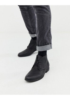 Jack & Jones lace up boots - Anthracite