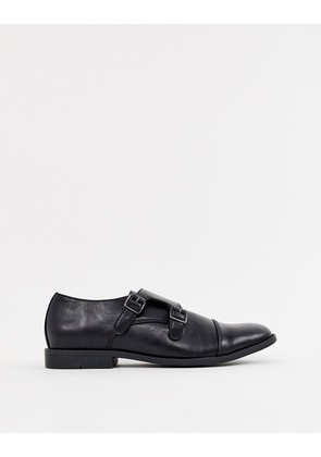 New Look monk strap shoes in black - Black
