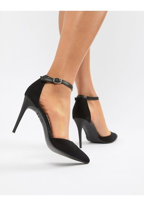New Look Snake Detail Pointed Court - Black