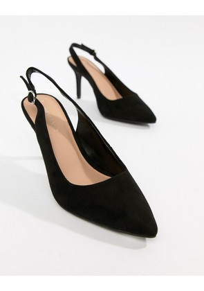 New Look Slingback Court Shoe - Black